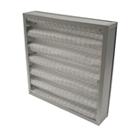 ALUMINIUM FRAME, PLEATED, FILTER, G4, 595 X 595 X 95MM (24 x 24 x 4
