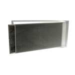 RETURN AIR GRILLE, 200 X 660MM, WHITE, HINGED, W/ FILTER